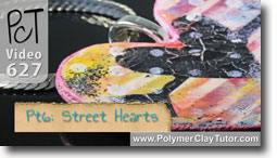 Pt 6 Graffiti Style Street Hearts Tutorial - Polymer Clay Tutor