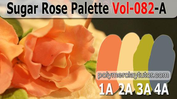 Sugar Rose Palette by Polymer Clay Tutor