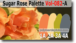 Sugar Rose Palette by Polymer Clay Tutor