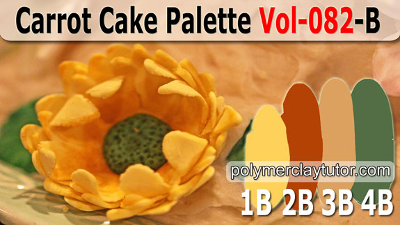 Carrot Cake Palette by Polymer Clay Tutor