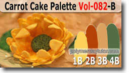 Carrot Cake Poppy Palette by Polymer Clay Tutor