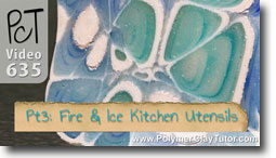 Pt 3 Fire & Ice Kitchen Utensils Tutorial - Polymer Clay Tutor