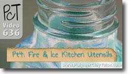 Pt 4 Fire & Ice Kitchen Utensils Tutorial - Polymer Clay Tutor