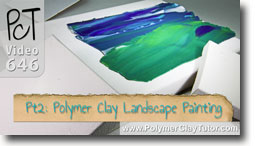 Pt 2 Polymer Clay Landscape Painting Tutorial - Polymer Clay Tutor