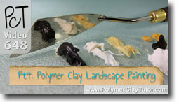Pt 4 Polymer Clay Landscape Painting Tutorial - Polymer Clay Tutor