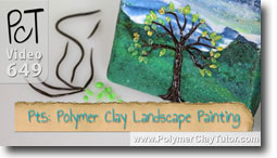 Pt 5 Polymer Clay Landscape Painting Tutorial - Polymer Clay Tutor