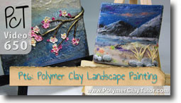 Pt 6 Polymer Clay Landscape Painting Tutorial - Polymer Clay Tutor