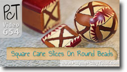 Adding Square Cane Slices To Round Beads - Polymer Clay Tutor