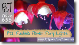 Fuchsia Flower Fairy Lights - Polymer Clay Tutor