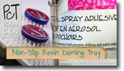 Non Slip Resin Doming Tray - Polymer Clay Tutor