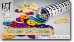 Extruder Disc Storage - Polymer Clay Tutor