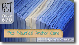 Pt 3 Nautical Anchor Cane - Polymer Clay Tutor