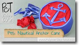 Pt 5 Nautical Anchor Cane - Polymer Clay Tutor