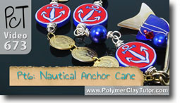 Pt 6 Nautical Anchor Cane - Polymer Clay Tutor