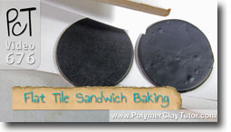 Baking Flat Pieces In A Tile Sandwich - Polymer Clay Tutor