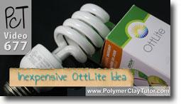 Inexpensive OttLite Idea - Polymer Clay Tutor