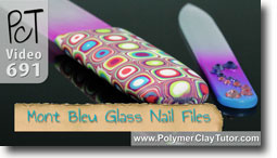 Mont Bleu Glass Nail Files - Polymer Clay Tutor