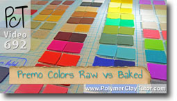 Premo Colors Raw Vs Baked - Polymer Clay Tutor
