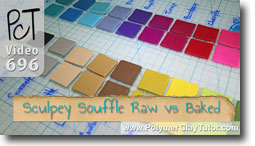 Sculpey Souffle Raw Vs Baked Color Shifts - Polymer Clay Tutor