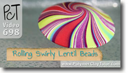 Rolling Perfect Swirly Lentil Beads - Polymer Clay Tutor