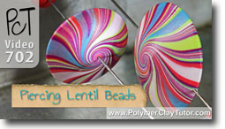 Piercing Lentil Beads - Polymer Clay Tutor