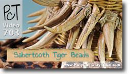 Sabertooth Tiger Beads - Polymer Clay Tutor