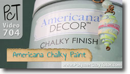American Decor Chalky Paint Finish - Polymer Clay Tutor