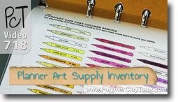 Art Supply Inventory System For Your Paper Planner - Polymer Clay Tutor