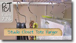 Studio Closet Tote or Purse hanger - Polymer Clay Tutor