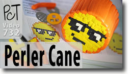 Using Perler Bead Patterns To Make Canes - Polymer Clay Tutor