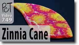 Zinnia Flower Cane Pendant - Polymer Clay Tutor
