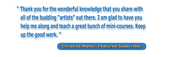 "Christine Maher says, ""A Great Bunch of Mini Courses."""
