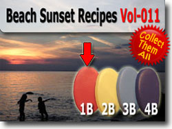 Beach Sunset Polymer Clay Color Sample